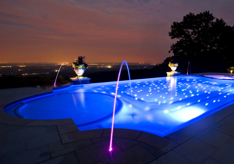swimming pool lighting options. Waterfalls And Grottos A Water Feature Always Adds Little Personality To Your Pool. Below, Are Just Some Of The Most Popular Options . Swimming Pool Lighting