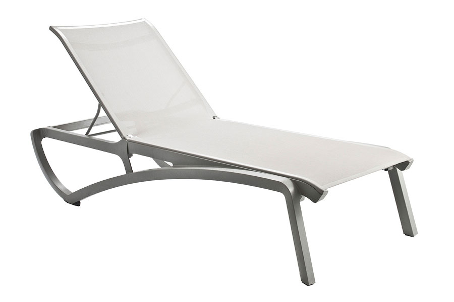 Sunset Collection Chaise Lounge in Platinum